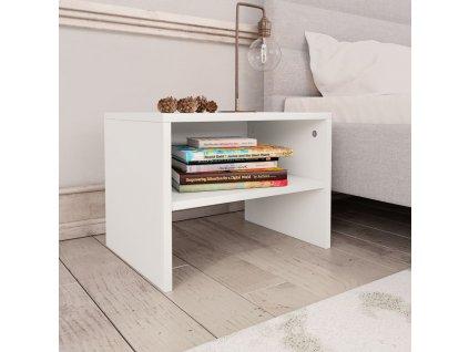 Noční stolek bílý 40 x 30 x 30 cm dřevotříska
