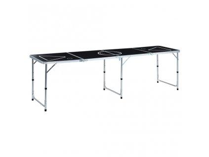 Skládací stůl na beer pong 240 cm černý