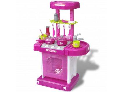 Dětská kuchyňka se světelnými/zvukovými efekty růžová