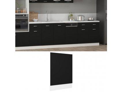 Panel na myčku černý 45 x 3 x 67 cm dřevotříska