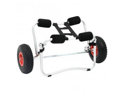 Hliníkový vozík na kajak / kánoi s robustními koly