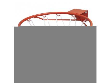Sada basketbalové obroučky se síťkou oranžová 45 cm