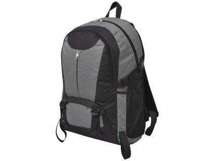 Outdoorový batoh 40 l černý a šedý