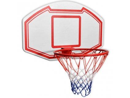 Třídílná sada nástěnného basketbalového koše s deskou 90x60 cm