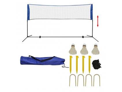 Sada badmintonové sítě a košíčků, 300x155 cm