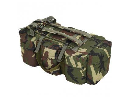 Sportovní taška 3v1 v army stylu 120 l maskáčová