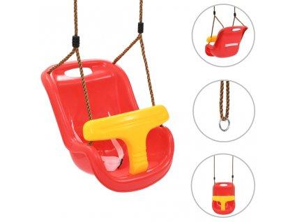 Houpačka pro batolata s bezpečnostním pásem PP červená