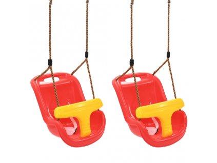 Houpačky pro batolata 2 ks s bezpečnostním pásem PP červené