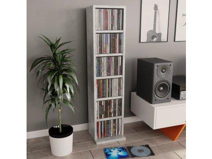 Skříňka na CD betonově šedá 21 x 20 x 88 cm dřevotříska