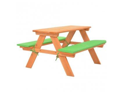 Dětský piknikový stůl s lavičkami 89 x 79 x 50 cm masivní jedle