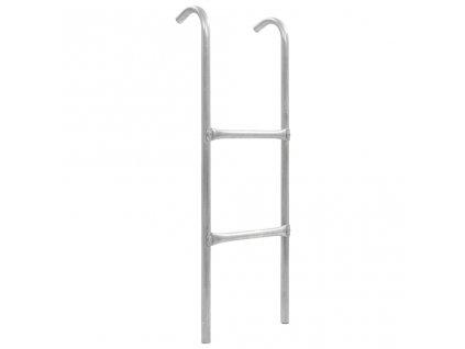 2stupínkový žebřík k trampolíně ocel stříbrný 102,6 cm