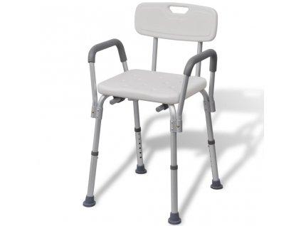 Židle do sprchy hliníková bílá