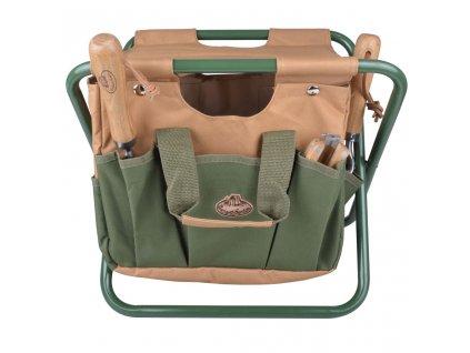Esschert Design Zahradní stolička s kapsami na nářadí GT01