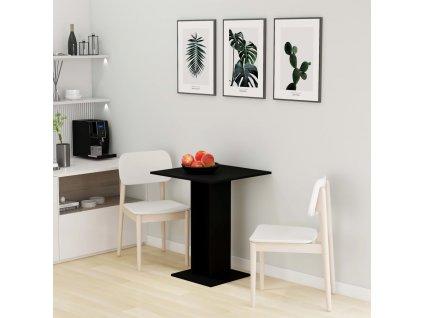 Bistro stolek černý 60 x 60 x 75 cm dřevotříska