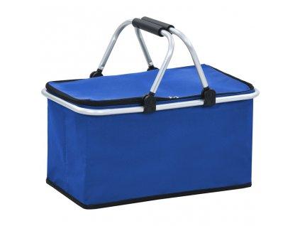 Skádací chladící taška modrá 46 x 27 x 23 cm hliník