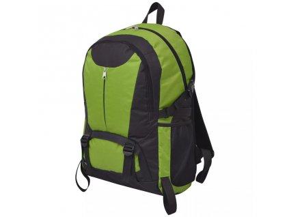 Outdoorový batoh 40 l černý a zelený