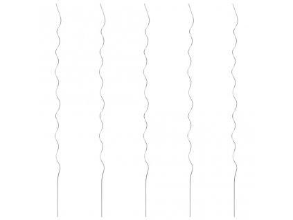 5 ks spirálové tyče k rostlinám 170 cm pozinkovaná ocel