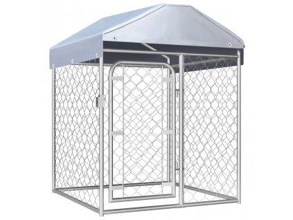 Venkovní psí kotec se střechou 100 x 100 x 125 cm