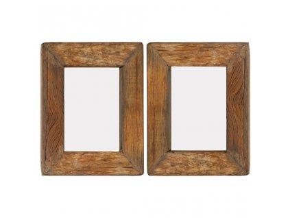 Fotorámečky 2 ks 23 x 28 cm masivní recyklované dřevo a sklo
