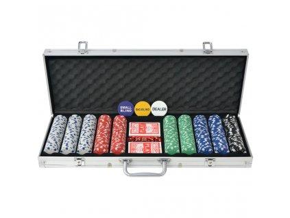 Poker set s 500 žetony hliník