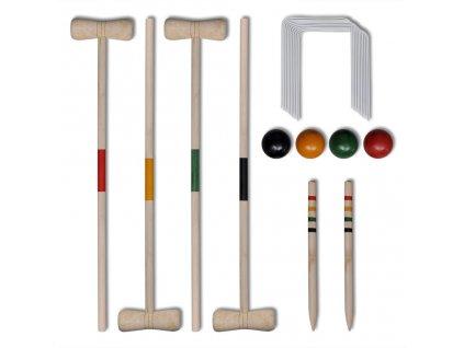 Dřevěný kroket pro 4 hráče