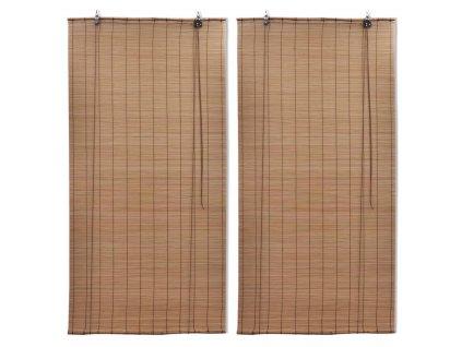 Zatemňovací rolety z bambusu 2 ks 80 x 160 cm hnědé
