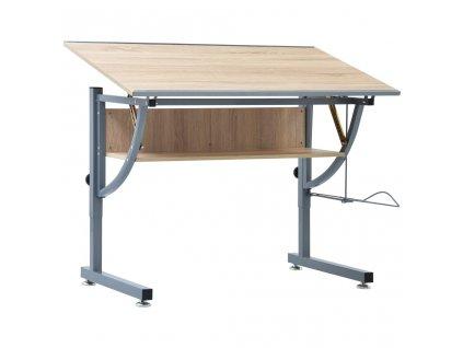 Studentský kreslící stůl dub 110 x 60 x 87 cm MDF