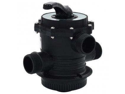 """Vícecestný ventil k pískové filtraci ABS 1,5"""" 6cestný"""