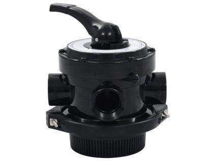 """Vícecestný ventil k pískové filtraci ABS 1,5"""" 4cestný"""