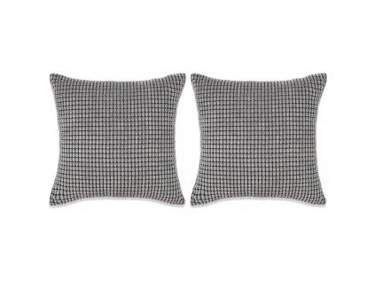 Sada polštářů 2 ks velur, 45 x 45 cm, šedé