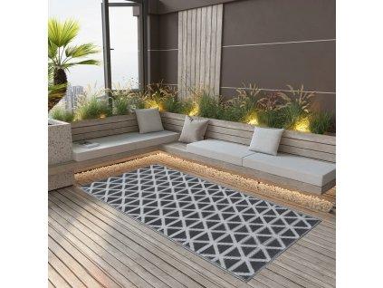 Venkovní koberec černý 80 x 150 cm PP