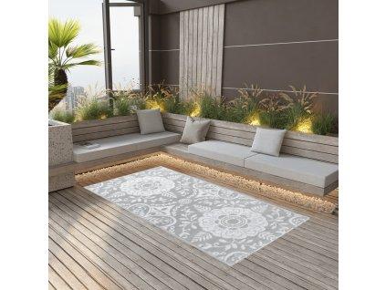 Venkovní koberec světle šedý 80 x 150 cm PP