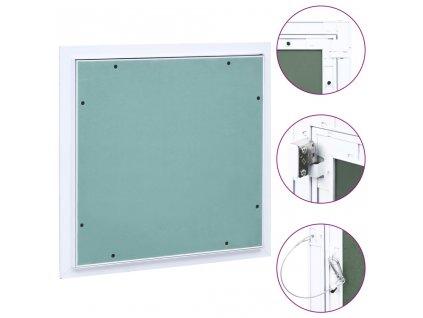 Přístupový panel s hliníkovým rámem a sádrokartonem 300x300 mm