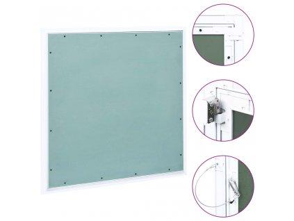 Přístupový panel s hliníkovým rámem a sádrokartonem 500x500 mm