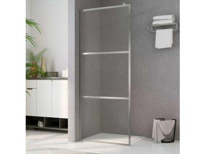 Zástěna do průchozí sprchy čiré ESG sklo 90 x 195 cm