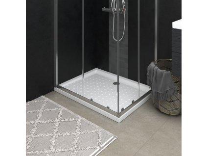 Sprchová vanička ABS s puntíky bílá 90 x 70 x 4 cm