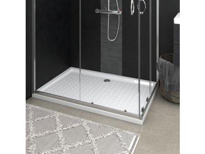 Sprchová vanička s puntíky bílá 80 x 120 x 4 cm ABS