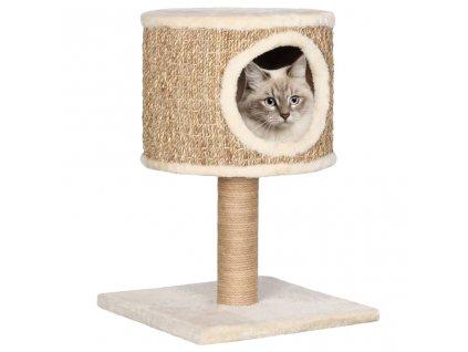 Kočičí strom s domečkem a sisalovým sloupkem 52 cm mořská tráva