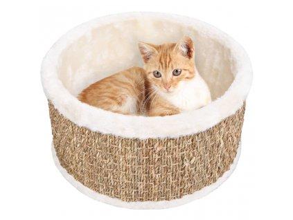 Kulatý pelíšek pro kočku 36 cm mořská tráva