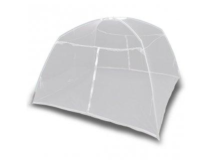 Kempingový stan 200 x 150 x 145 cm sklolaminát bílý