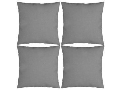 Dekorační polštáře 4 ks šedé 40 x 40 cm textil