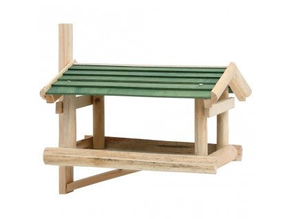 Krmítko pro ptáky masivní dřevo 35 x 29,5 x 21 cm