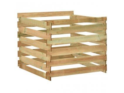 Laťkový zahradní kompostér 100x100x80 cm impregnovaná borovice