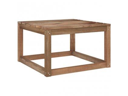 Zahradní stůl z palet hnědý 60x60x36,5 cm impregnovaná borovice