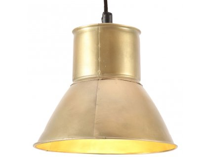 Závěsné svítidlo 25 W mosazné kulaté 17 cm E27