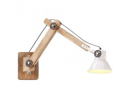 Nástěnná lampa industriální styl bílá kulatá E27