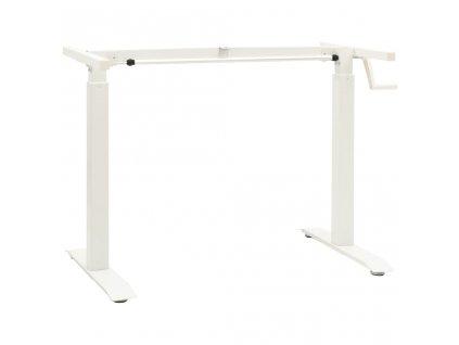 Výškově nastavitelný rám stolu ruční ovládání bílý