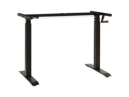 Výškově nastavitelný rám stolu ruční ovládání černý