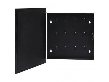 Schránka na klíče s magnetickou deskou černá 35 x 35 x 5,5 cm