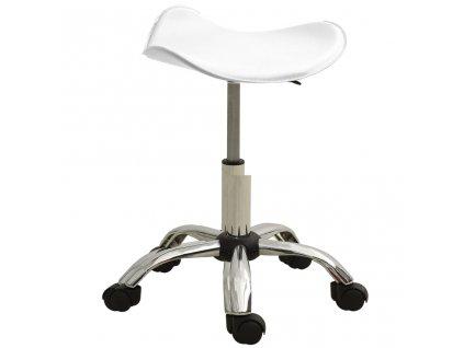 Kosmetická stolička bílá umělá kůže